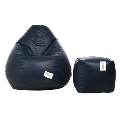 combo classic xxxl bean bag & square footstool with beans