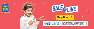 big saving days sale live up to 80% discount on products extra 10% discount on sbi cards