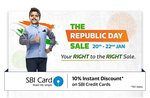 flipkart republic day sale live get benefits upto 80% off on all categories