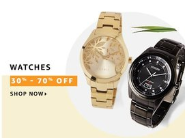 Fashion Sale : great Deals on Watches 50%-70% off