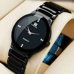 Offer : Buy IIK Round Dial Black Metal Strap Men Quartz Watch for Men at Rs.219
